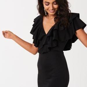 Gina Tricot Kendall Frill Dress Mekko Black