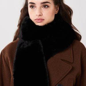 Gina Tricot Klara Fur Collar Turkiskaulus Black