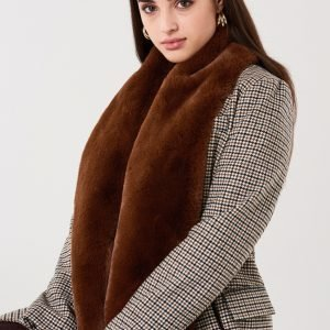 Gina Tricot Klara Fur Collar Turkiskaulus Brown