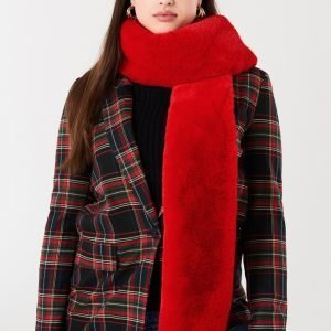 Gina Tricot Klara Fur Collar Turkiskaulus Red