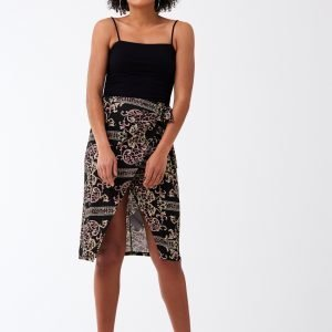 Gina Tricot Knot Wrap Skirt Hame Pink Chain