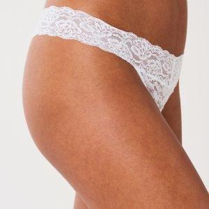 Gina Tricot Lana String Stringit White