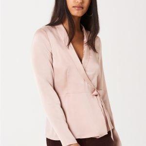 Gina Tricot Leona Wrap Blouse Pusero Pink Haze