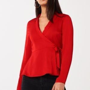 Gina Tricot Leona Wrap Blouse Pusero So Red