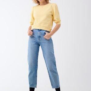 Gina Tricot Linda Puff Sleeve Sweater Collegepusero Mellowyellow