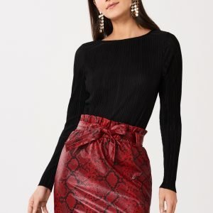 Gina Tricot Lindy Pleated Toppi Black