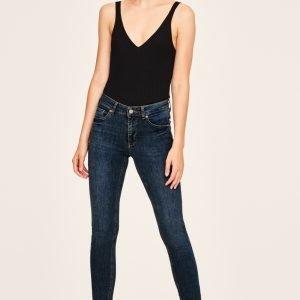 Gina Tricot Lisen Midwaist Jeans Farkut Dk Blue