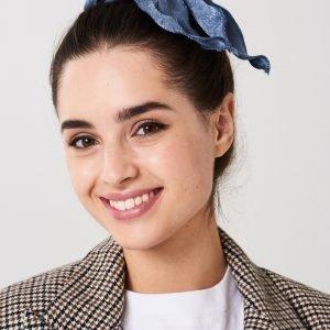 Gina Tricot Livia Livia Hair Bow Hiuslenkki Mid Blue