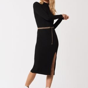 Gina Tricot Lovisa Rib Dress Mekko Black