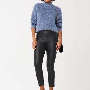 Gina Tricot Maj Pu Trousers Housut Black