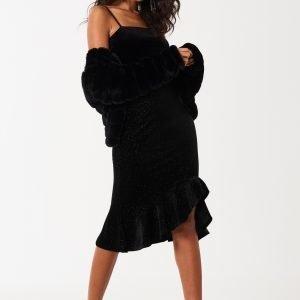 Gina Tricot Marie Glitter Skirt Hame Black Glitter