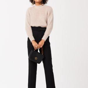 Gina Tricot Marika Belted Trousers Housut Black