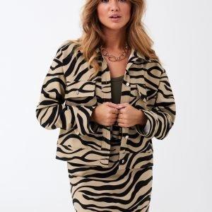 Gina Tricot Mia Trucker Jacket Takki Tiger / Aop