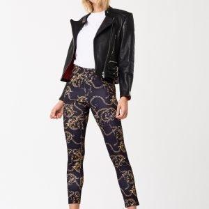 Gina Tricot Mila Highwaist Leggings Leggingsit Chain / Aop