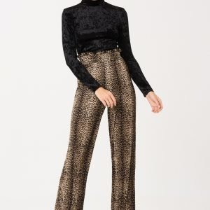 Gina Tricot Millie Frill Trousers Housut Leo / Aop