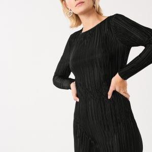 Gina Tricot Miri Pleated Dress Mekko Black