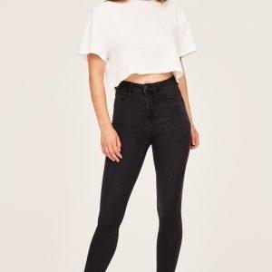 Gina Tricot Molly Highwaist Jeans Farkut Black / Grey A