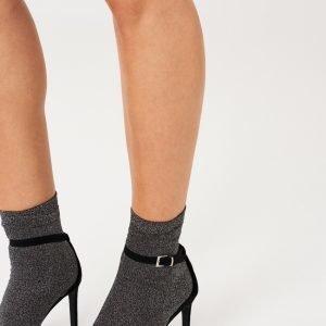 Gina Tricot Nora Glitter Socks Sukat Black