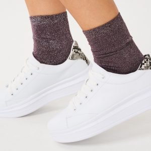 Gina Tricot Nora Glitter Socks Sukat Potent Purple