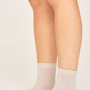 Gina Tricot Nora Glitter Socks Sukat Silver Grey
