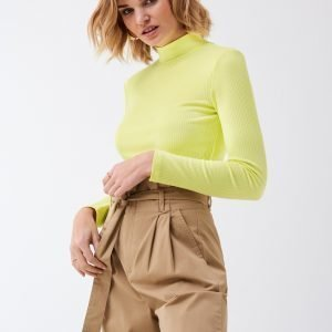 Gina Tricot Nora Turtleneck Poolopusero Sunny Lime