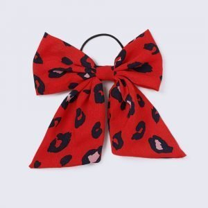 Gina Tricot Red Leopard Bow Hairband Hiuspanta Red Multi