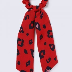 Gina Tricot Red Leopard Tail Bow Hairband Hiuspanta Red Multi