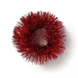 Gina Tricot Red Tinsel Scrunchie Hiuslenkki Red