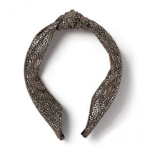 Gina Tricot Rose Gold Metallic Knot Headband Hiuspanta Gold