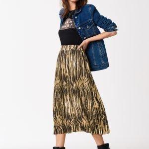 Gina Tricot Sanja Pleated Skirt Hame Tiger