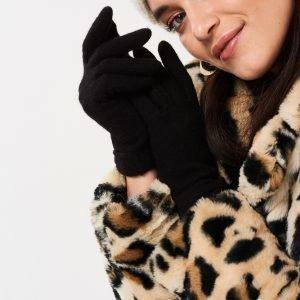Gina Tricot Sanna Käsineet Black