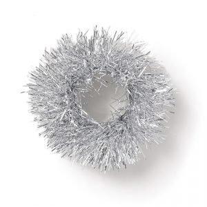 Gina Tricot Silver Tinsel Scrunchie Hiuslenkki Silver