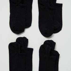 Gina Tricot Sneaker Sukat Black 4-Pakkaus