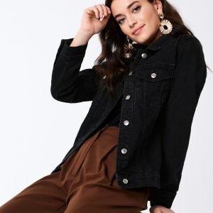 Gina Tricot Solange Denim Jacket Farkkutakki Offblack