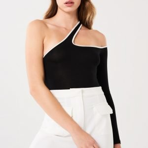 Gina Tricot Steph One Shoulder Body Black