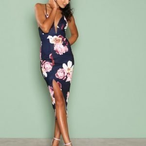 Ginger Fizz Boquet Dreams Midi Dress Kotelomekko Navy / Floral