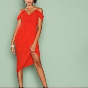 Ginger Fizz True Romantic Drape Dress Kotelomekko Red