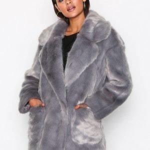 Glamorous Andrea Faux Fur Jacket Tekoturkki Grey