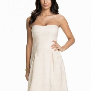 Glamorous Bandage Bandeau Mini Dress Skater Mekko Cream