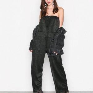 Glamorous Bardot Flouence Jumpsuit Black