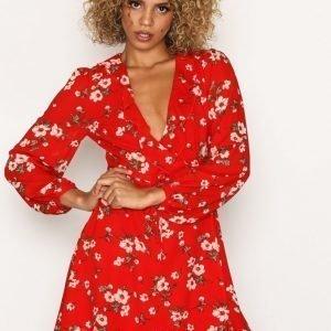 Glamorous Blossom Dream Dress Skater Mekko Red