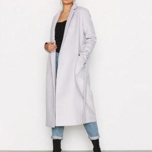 Glamorous Classic Trench Coat Pitkä Takki Light Grey