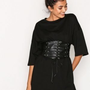 Glamorous Corset Detail Dress Loose Fit Mekko Black