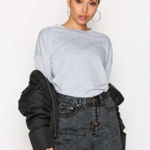 Glamorous Denim Skirt Minihame Charcoal