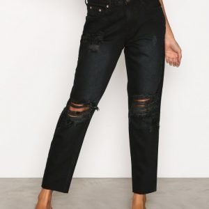 Glamorous Destroy Mom Jeans Farkut Washed Black