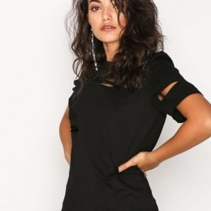 Glamorous Distressed T-Shirt T-Paita Black