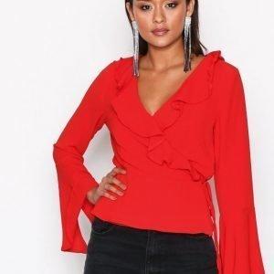 Glamorous Ellen Chiffon Blouse Juhlapaita Red