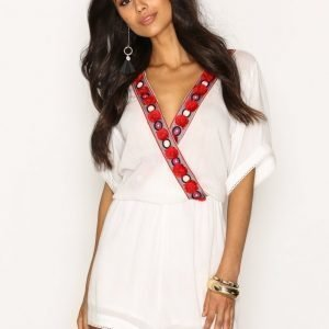 Glamorous Embroidered Detail Top Playsuit White