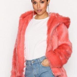Glamorous Faux Fur Jacket Tekoturkki Pink