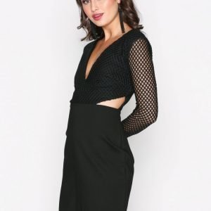 Glamorous Fishnet Dress Maksimekko Black